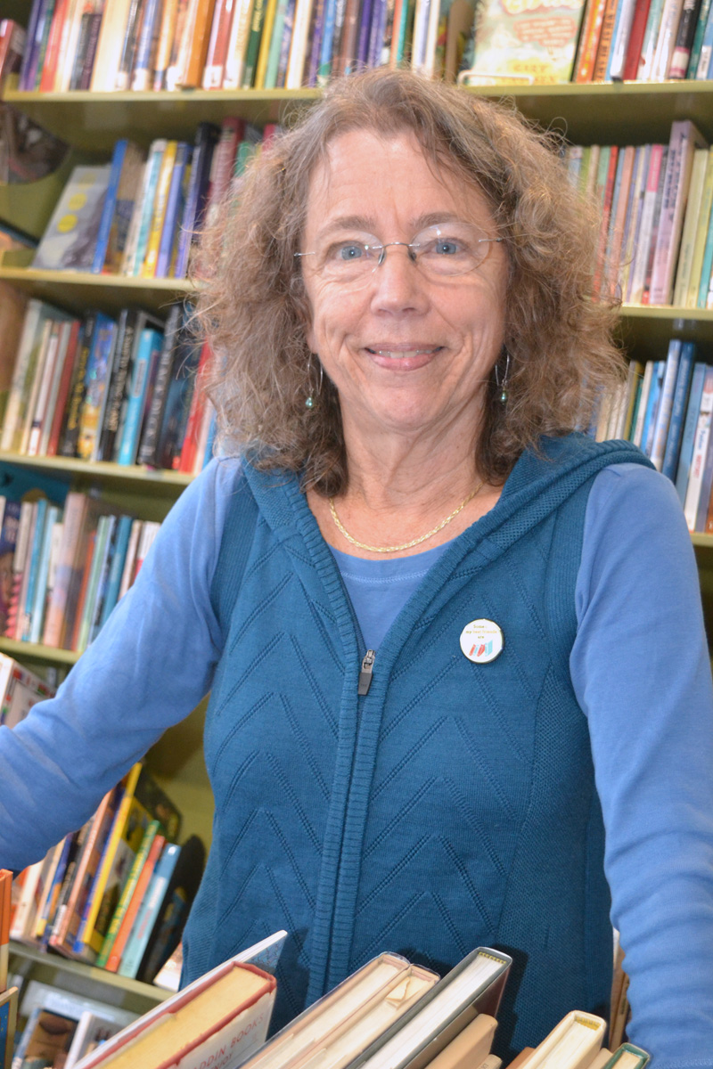 Rosie Bensen, of Skidompha Secondhand Book Shop, recommends a good mystery for holiday reading. (Christine LaPado-Breglia photo)