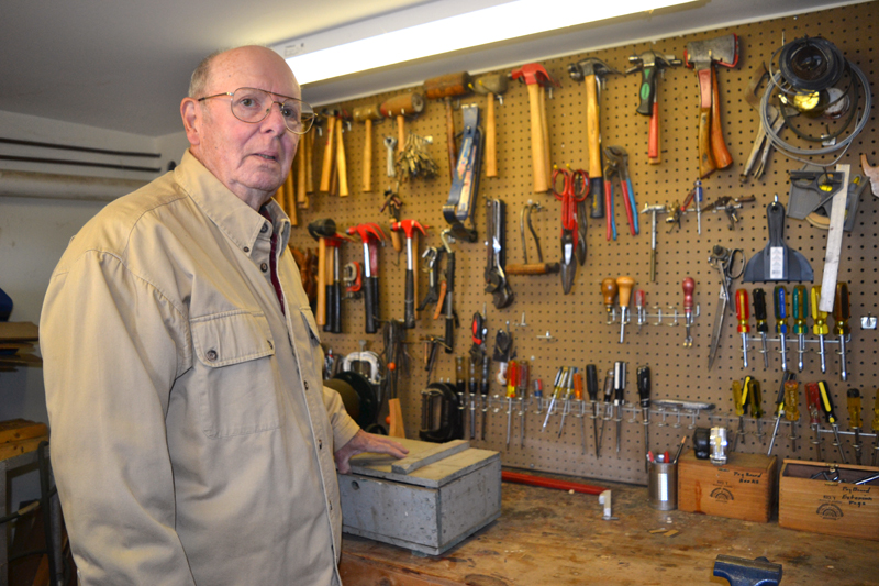 Dan Buckley in his basement workshop. (Christine LaPado-Breglia photo)