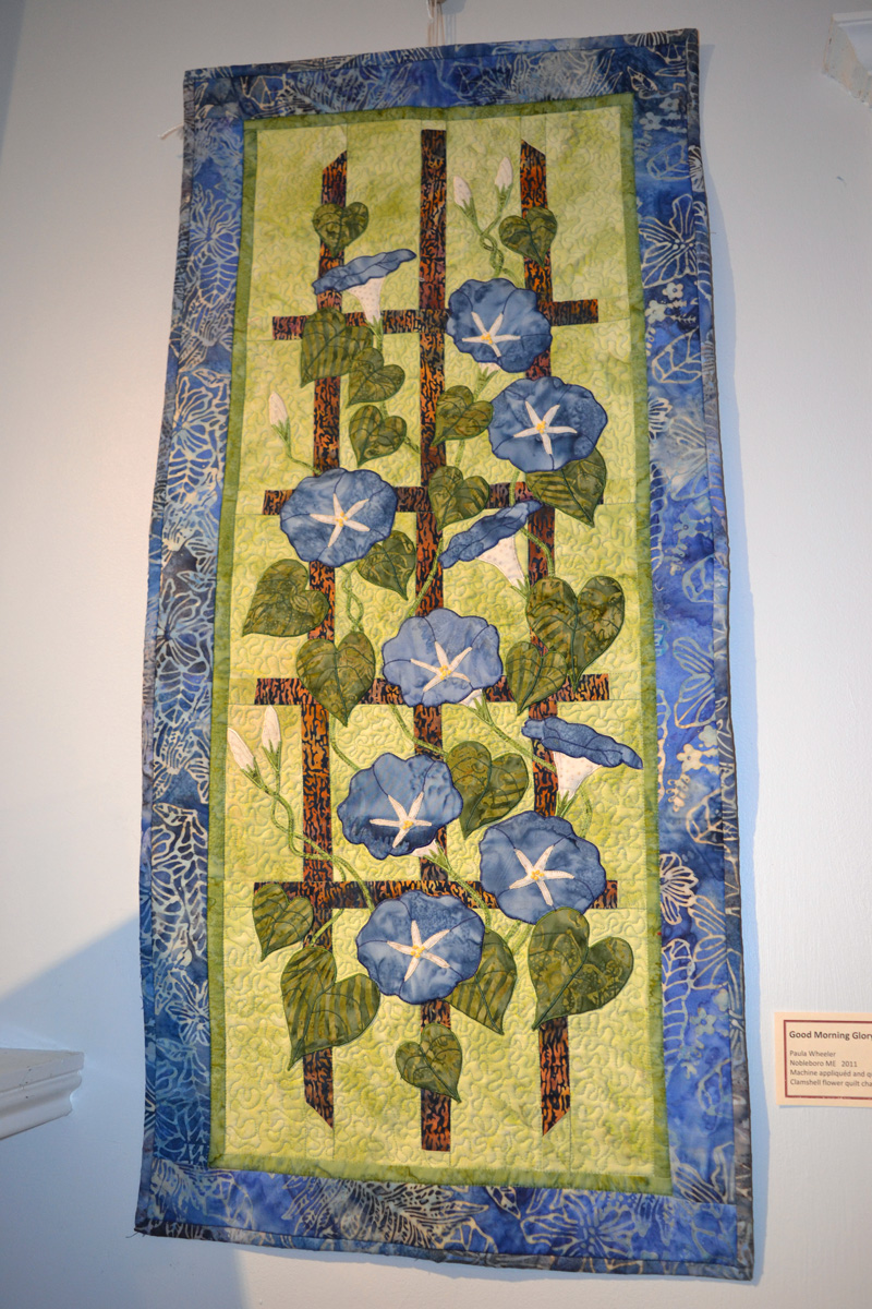 "A flower-patterned ""challenge"" quilt, ""Good Morning Glory,"" made by Paula Wheeler, of Nobleboro. (Christine LaPado-Breglia photo)"