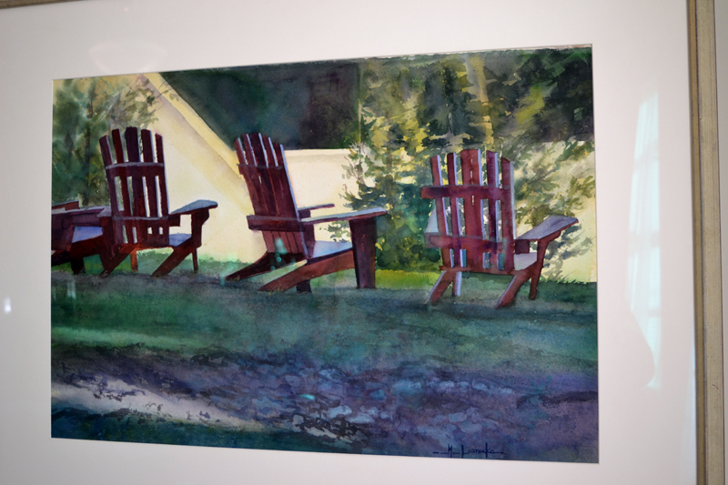 "Marlene Loznicka's watercolor ""Adirondacks."" (Christine LaPado-Breglia photo)"