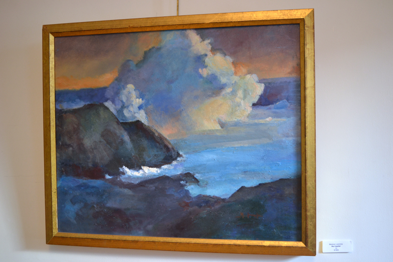 """Nor'easter,"" an oil painting by Marlene Loznicka. (Christine LaPado-Breglia photo)"