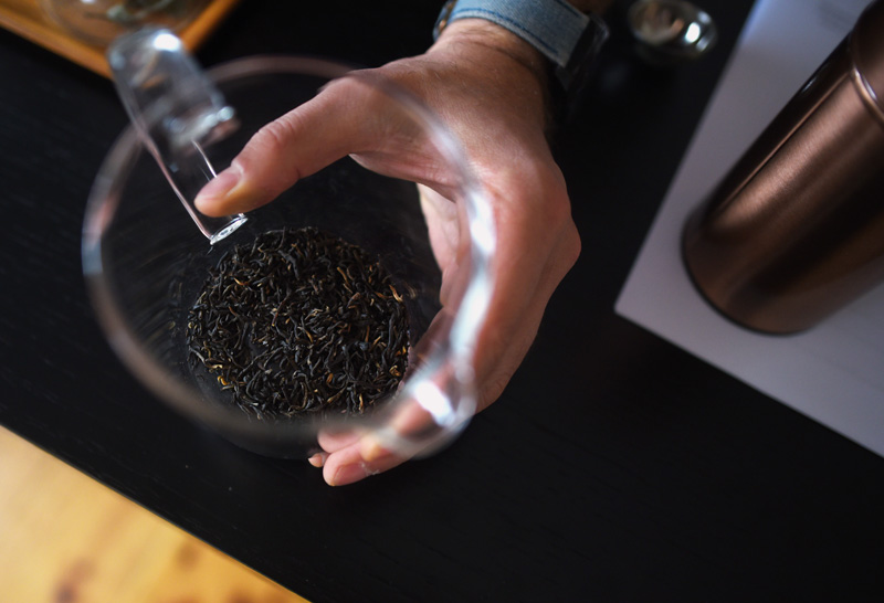 English breakfast black tea leaves at Samovar Tea's new location in downtown Newcastle, Friday, Nov. 9. (Jessica Picard photo)