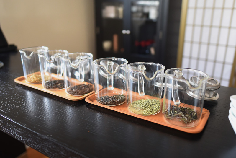 A sampling of Samovar Tea leaves at the business's new location in Newcastle, Friday, Nov. 9. (Jessica Picard photo)