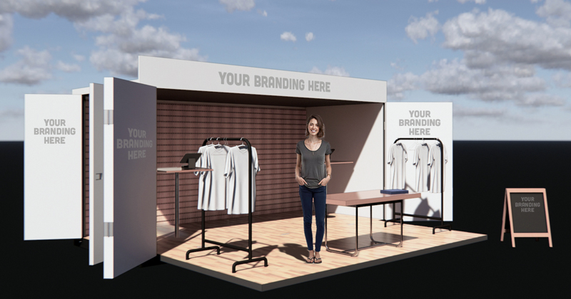 A rendering of a retail OpBox. (Image courtesy Emily Davis)