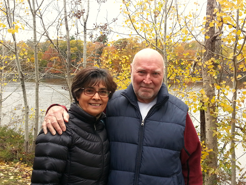 Natalia Jackson with her husband, Keith Jackson. A native of Panama, Natalia Jackson moved to South Bristol in 2015 and became a U.S. citizen in September. (Jessica Clifford photo)