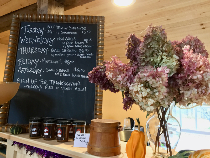 Barstow Farms Country Store offers a constantly changing menu of hot meals to go. (Suzi Thayer photo)