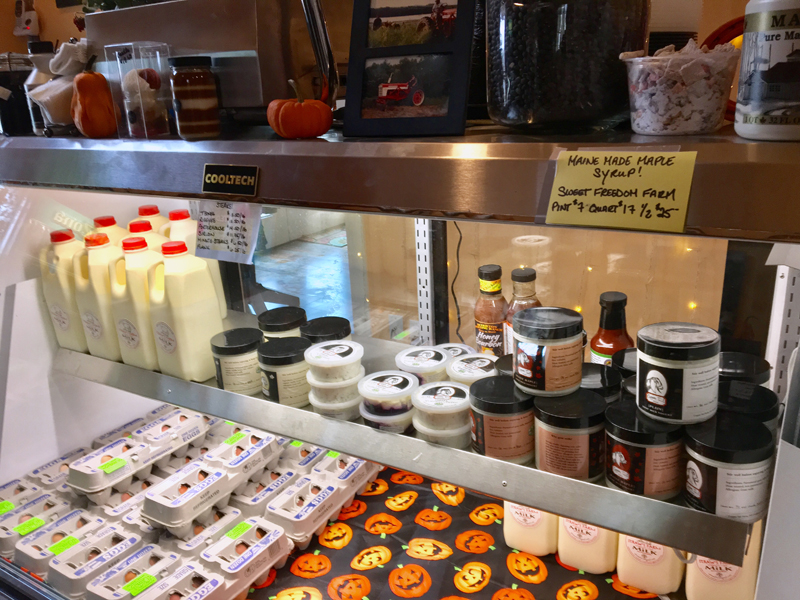 The deli case at Barstow Farms Country Store is full of fresh dairy products. (Suzi Thayer photo)