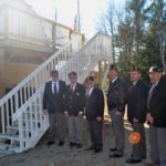 Haggett's Garage Stairs in Place at Legion