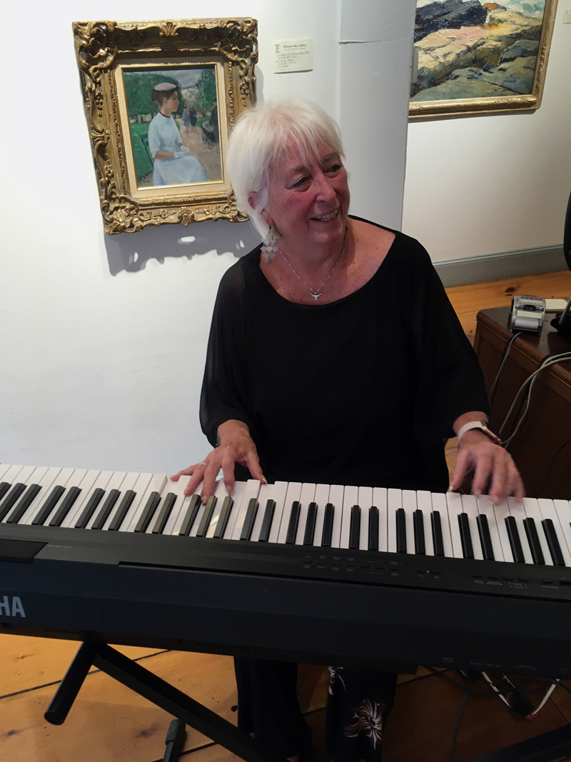 Keyboardist Terry Heller plays holiday favorites on Saturday, Dec. 8 in Wiscasset Bay Gallery from 2-5 p.m., during Wiscasset Holiday Marketfest.