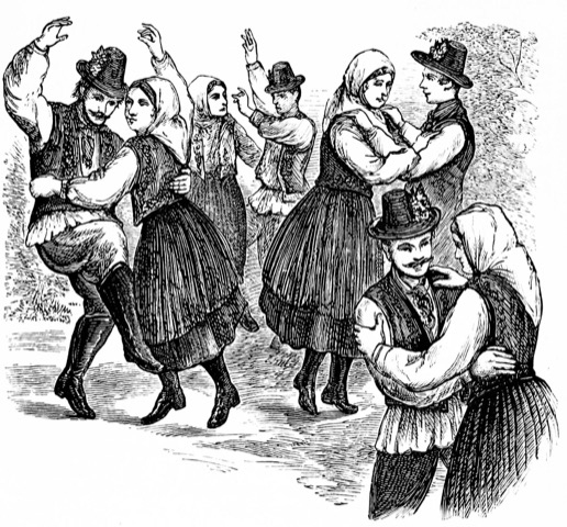 People enjoy contra-dancing.