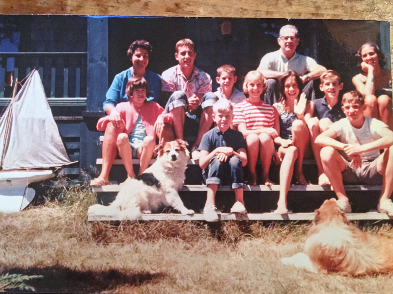 A Small-Thayer family reunion, circa 1963. (Photo courtesy Ronnie Small)