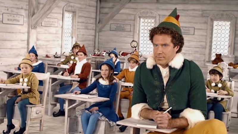 "Will Ferrell stars in ""Elf."""