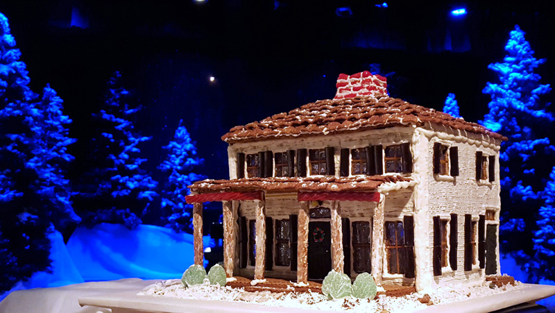 A gingerbread mansion.