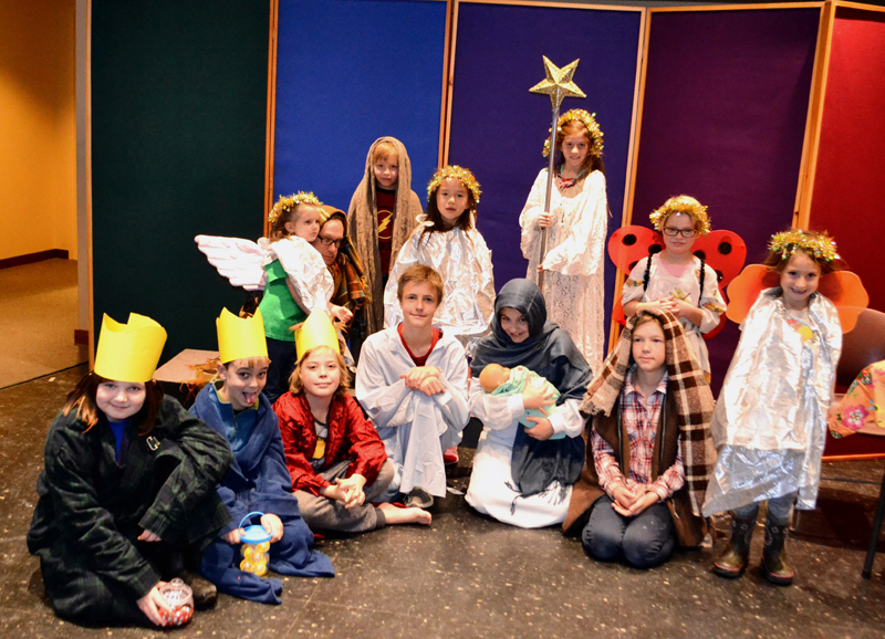 The first rehearsal of 'Best Christmas Pageant Ever.""