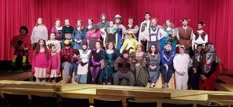 "The cast of ""Shrek the Musical."""