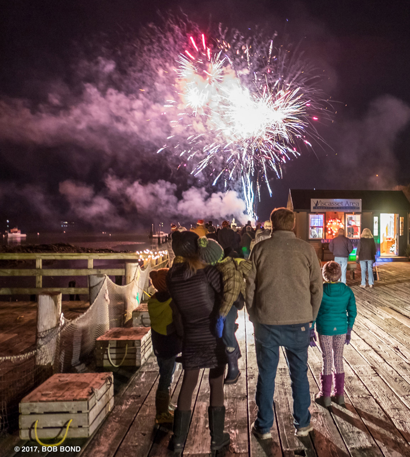 Fireworks on the Creamery Pier will welcome children and their families to Wiscasset Holiday Marketfest on Thursday, Dec. 6. Santa will make a visit and the Wiscasset Area Chamber of Commerce will offer cocoa and tasty treats. (Photo courtesy Bob Bond)