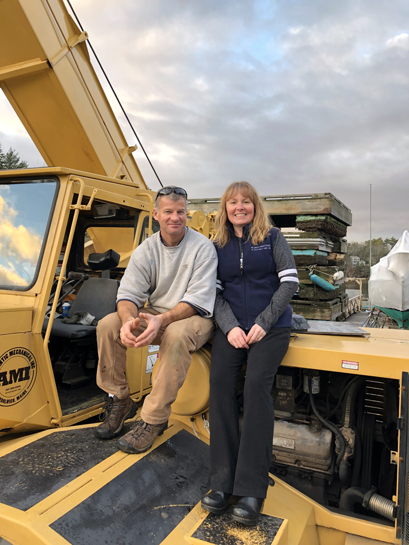 Dusty Goodwin and Amy Blake Goodwin own Blake's Boatyard, in West Boothbay Harbor, as of Sept. 1. Amy Blake Goodwin is the granddaughter of Fred Blake, who established the business in 1951. (Photo courtesy Amy Blake Goodwin)