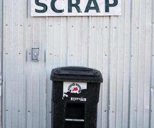 The Bristol-South Bristol Transfer Station now accepts food scraps, which Lincoln County Recycling will later sell as compost. (Jessica Picard photo)