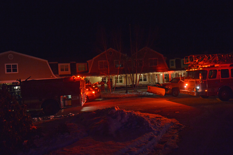 Firefighters respond to Chase Point Assisted Living in Damariscotta for a report of smoke in the hallway early Wednesday, Dec. 19. (Chris Roberts photo)