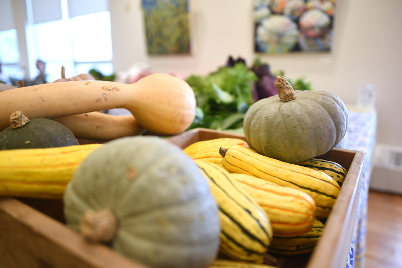 Produce from Morning Dew Farm at the farmers market at the CLC YMCA on Nov. 16. (Jessica Picard photo)
