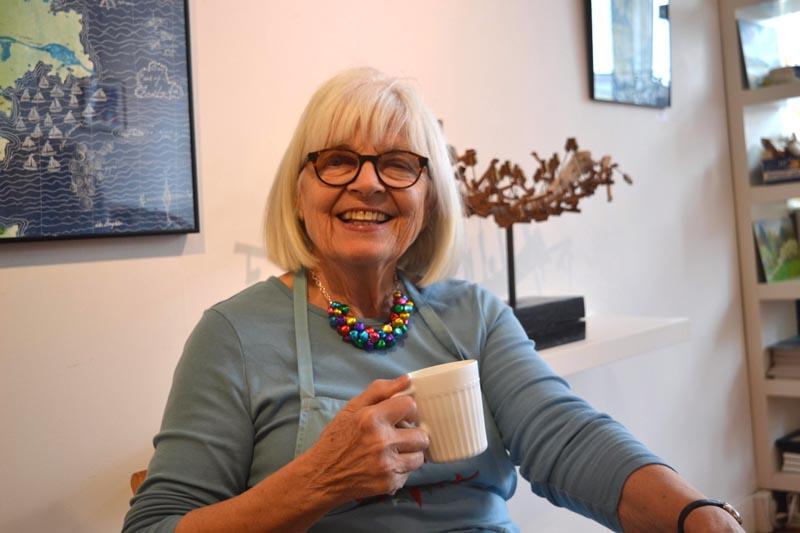 Charlotte Davenhill, owner of Tidemark Gallery & Cafe in Waldoboro. (Christine LaPado-Breglia photo)