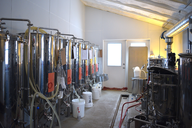 The brewing system at Sasanoa Brewing in Westport Island. (Jessica Clifford photo)