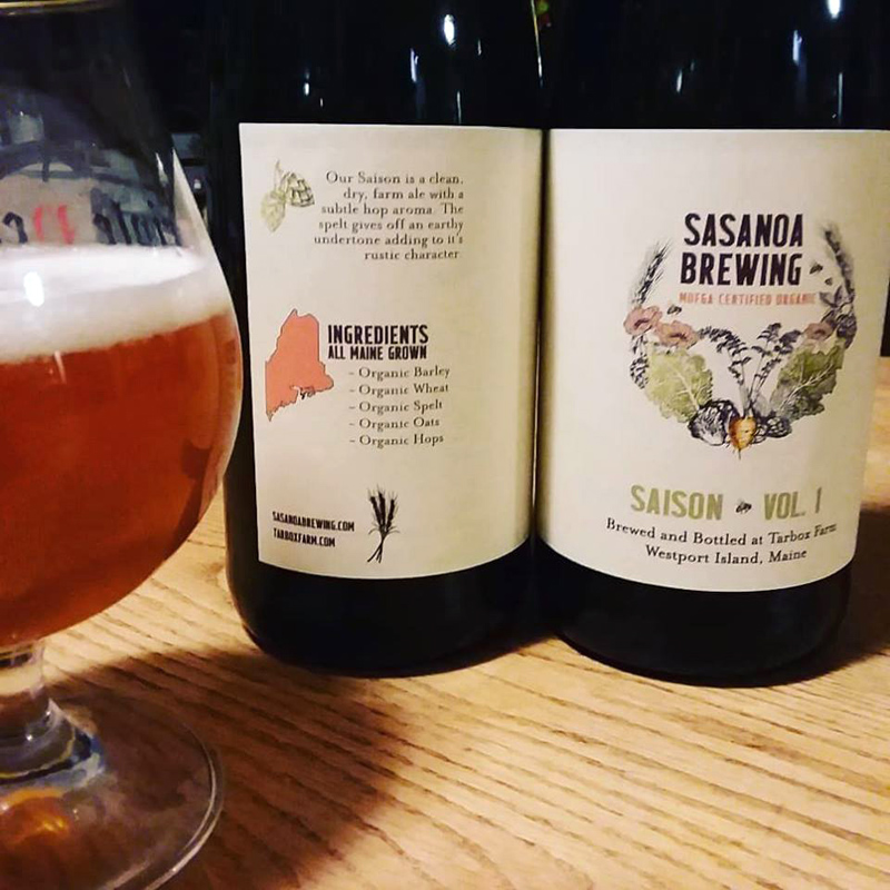 A saison beer sold by Sasanoa Brewing, a new organic brewery in Westport Island. (Photo courtesy Kyle DePietro)