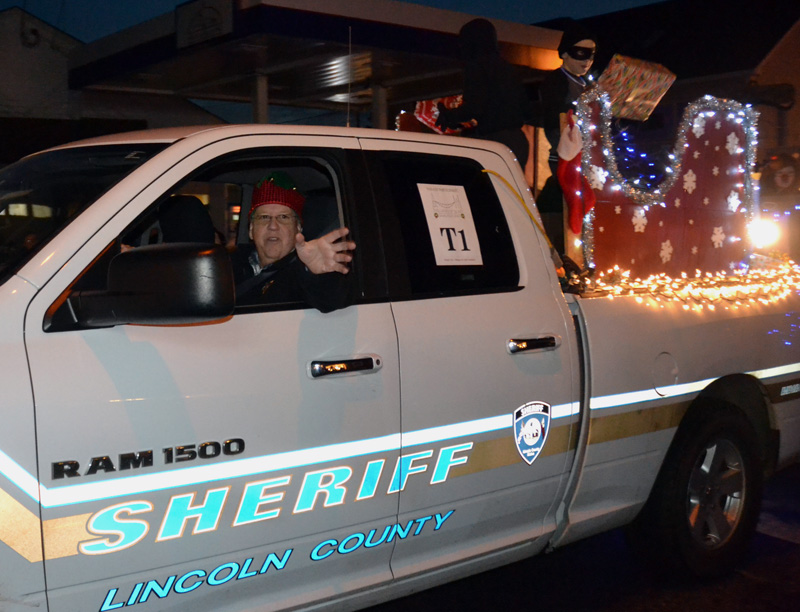The Lincoln County Sheriff's Office won best town/municipal parade entry for its entry in the Parade of Lights. (Maia Zewert photo, LCN file)