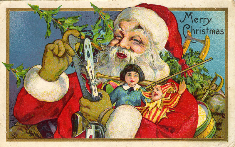 A 1915 Christmas postcard. (From the Marjorie and Calvin Dodge collection)