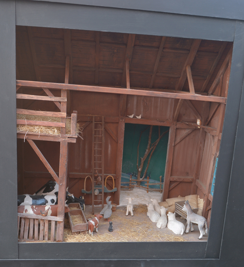 """Maurice """"Jake"""" Day's barn-scene diorama is on display at Milling Around in Newcastle."""