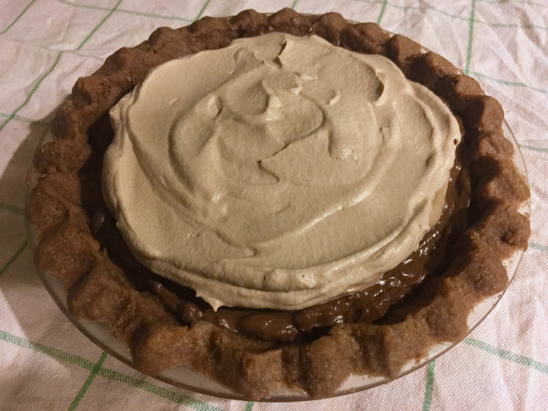 Chocolate cream pie, with chocolate shortbread crust and chocolate whipped cream, is totally ridiculous. (Suzi Thayer photo)