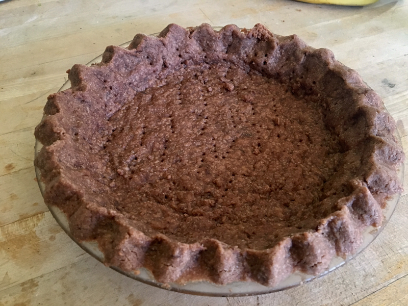 Chocolate shortbread crust is a breeze to make, believe it or not. (Suzi Thayer photo)