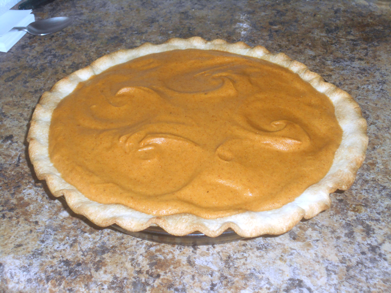 Delicious, light, fluffy pumpkin chiffon pie, by Jill Rice and Mamie Eisenhower. (Photo courtesy Jill Rice)
