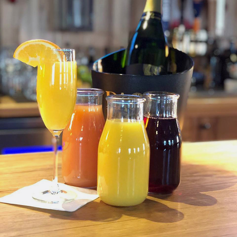 The Harbor Room, in New Harbor, has recently added bottomless mimosas to its Sunday brunch offerings.