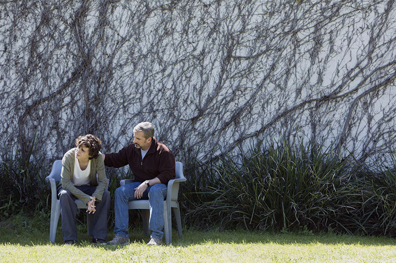 "Steve Carell and Timothee Chalamet in a scene from ""Beautiful Boy,"" playing this week at Harbor Theater, Boothbay Harbor."