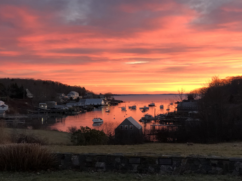 Chris Carter's photo of New Harbor at sunrise received the most votes to win the December #LCNme365 photo contest. Carter will receive a $50 gift certificate to Louis Doe Home Center, of Newcastle, the sponsor of the December photo contest.