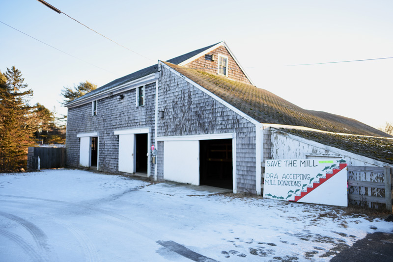 The three-story mill building at the Pemaquid Mill property. The Old Bristol Historical Society is considering potential uses of the building, including as a museum. (Jessica Picard photo)