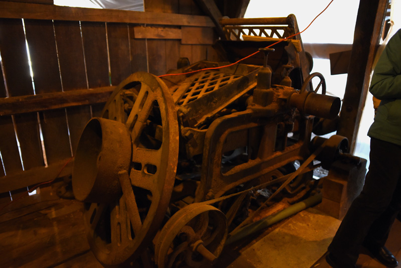 A planer from when the Pemaquid Mill was still in operation. (Jessica Picard photo)
