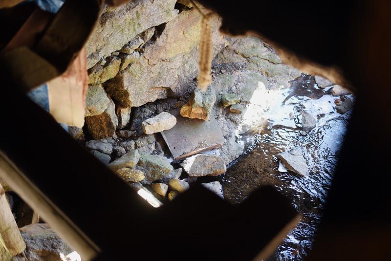 Water runs underneath the mill Thursday, Jan. 17. (Jessica Picard photo)