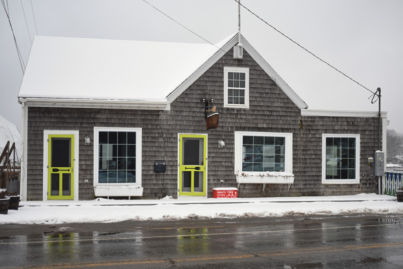 The owner of 27 Main St. in Damariscotta hopes to open a farm-to-table restaurant in the building in June. (Jessica Picard photo)