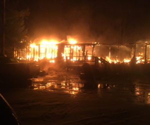 Mobile Home Burns in Jefferson