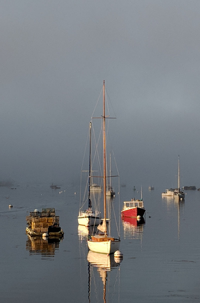 Dick Morrison placed sixth in the #LCNme365 photo contest, receiving 40 votes for his photo of boats in the harbor on a foggy day. Morrison, of Boothbay Harbor, won the September #LCNme365 photo contest.