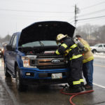 Truck Catches Fire on Route 1 in Newcastle