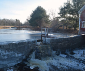 The Clary Lake Dam on New Year's Eve, after the completion of repairs in late December. The repairs will raise the lake's water level. (Jessica Clifford photo)