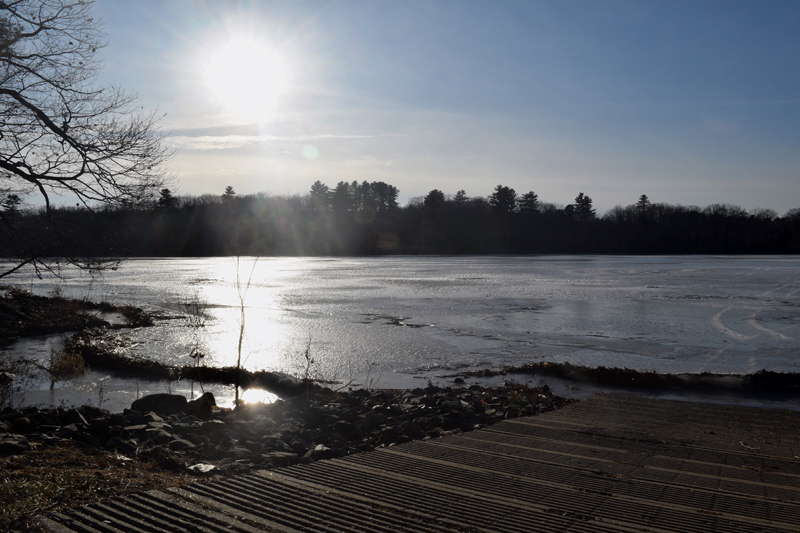 A view of Clary Lake from the Jefferson boat landing on New Year's Eve. (Jessica Clifford photo)