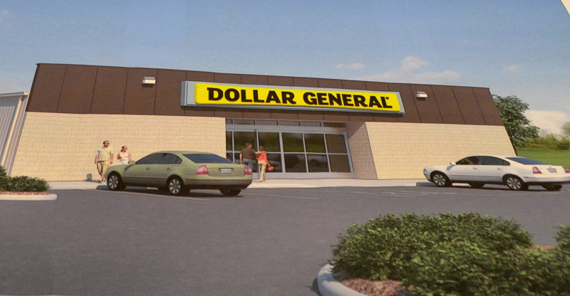 A rendering of a Dollar General store proposed for Route 1 in Wiscasset.