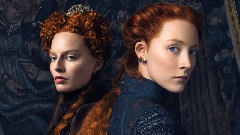 "Margot Robbie and Saoirse Ronan star in ""Mary Queen of Scots."""