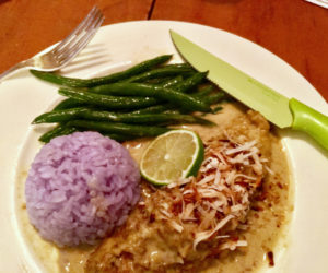 """<span class=""""entry-title-primary"""">Food, Life, and Manhattans</span> <span class=""""entry-subtitle"""">Green curry chicken with purple rice</span>"""