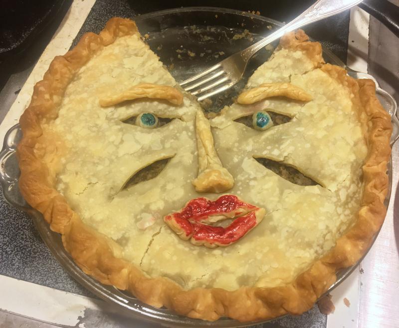 A brainless torture pie. (Suzi Thayer photo)