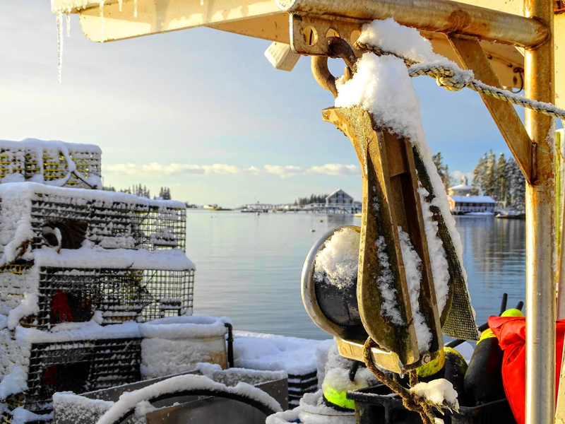 Dick Morrison, of Boothbay Harbor, received the most votes with his photo of a quiet harbor framed by snow-covered lobster gear to become the first monthly winner of the 2019 #LCNme365 photo contest. Morrison will receive a $50 gift certificate to Best Thai courtesy of O-Cha, of Damariscotta, the sponsor of the January contest.